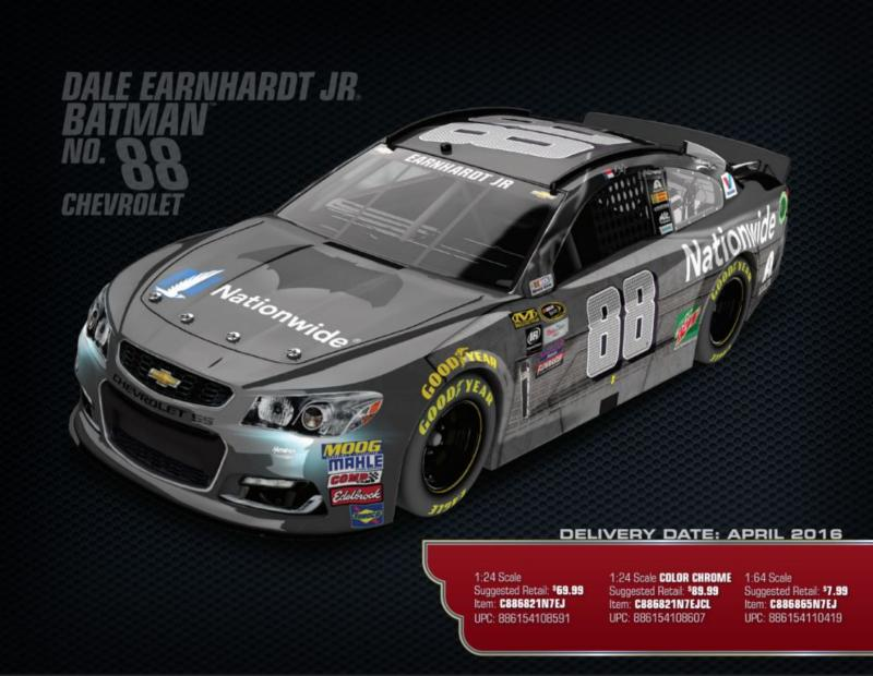 2016 Dale Earnhardt Jr #88 Batman 1:24 Diecast Car