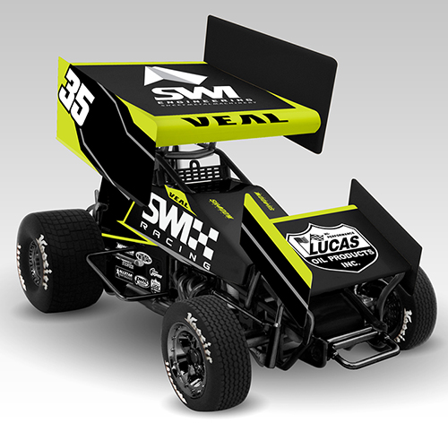 2017 Jamie Veal #35 SWI Racing 1/64 Diecast Sprint Car
