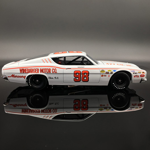 "LeeRoy Yarbrough  #98 Winebarger Motor Co. ""Autographed"" 1969 Mercury Cyclone 1:24  Diecast Car."