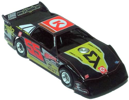 ADC Red Series MATT LONG #55 1/24 Late Model Diecast Car FROM NC