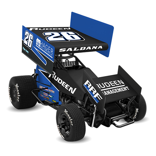 2018 Joey Saldana #26 Rudeen Racing 1/18 DieCast Sprint Car.