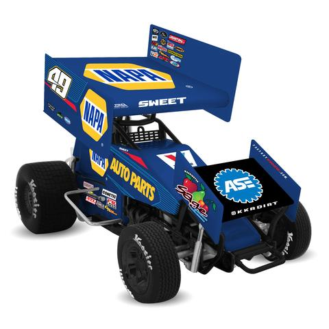 2017 Brad Sweet #49 Napa 1/18 DieCast Sprint Car.